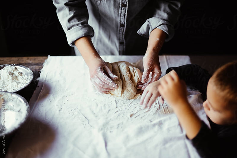 Baking together by Jovana Vukotic for Stocksy United