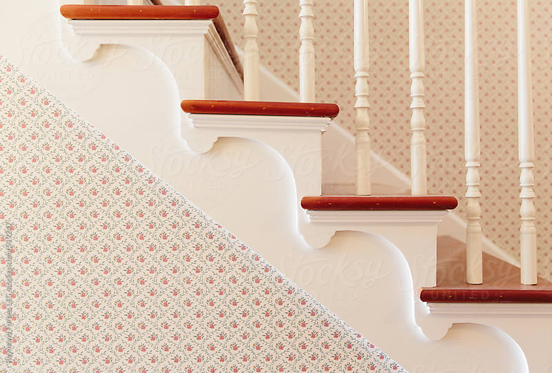 Stairway Detail in Historic Home by Raymond Forbes LLC for Stocksy United