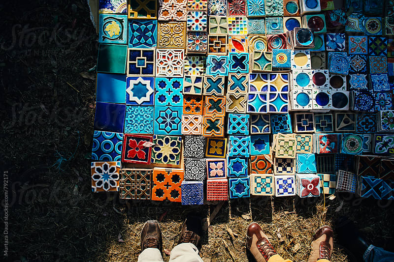 Hand crafted mosaic tiles by Murtaza Daud for Stocksy United