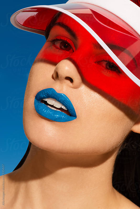 Beautiful girl with visor by Aila Images for Stocksy United