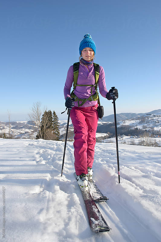 Female ski tourer portrait by RG&B Images for Stocksy United