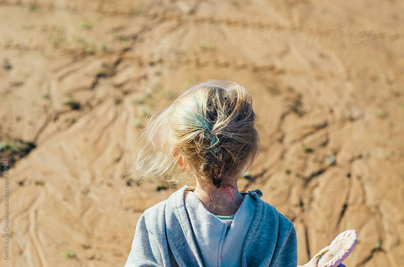 Little girl with rainbow coloured braids by Dominique Chapman for Stocksy United