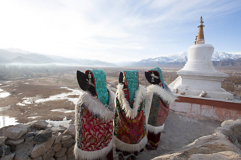Women in traditional costume, Ladakh. India by Hugh Sitton for Stocksy United