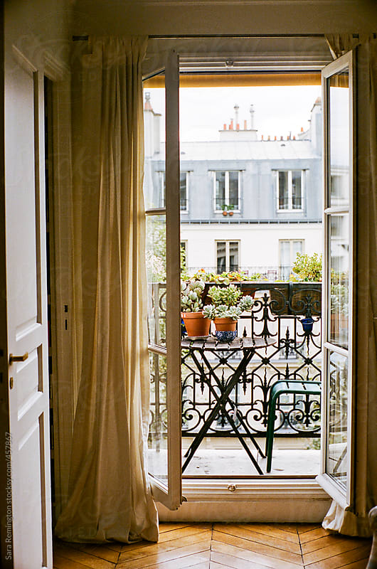 Window In Paris Apartment by Sara Remington for Stocksy United