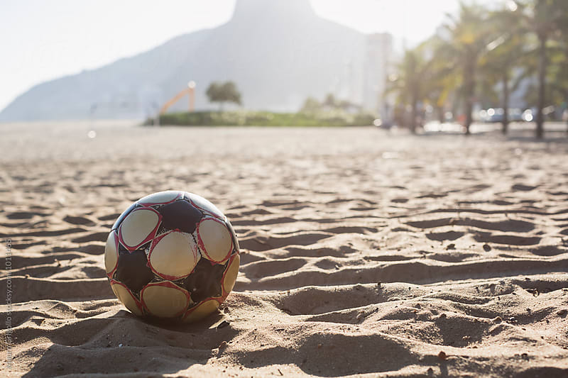 Playing soccer on ipanema beach, Rio de Janeiro, Brazil. by Mauro Grigollo for Stocksy United