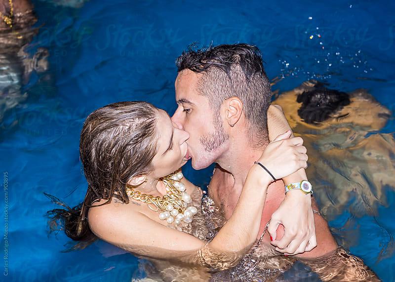 Couple kissing by Carles Rodrigo Monzo for Stocksy United