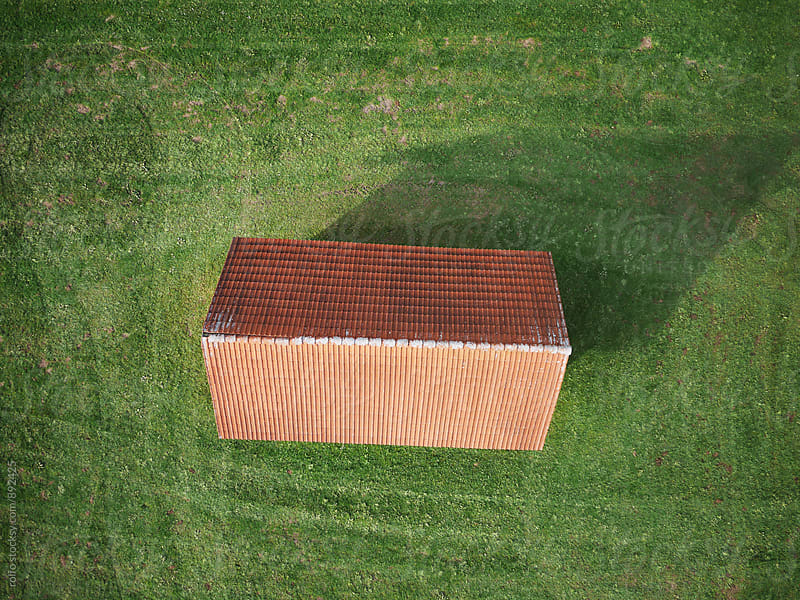 Country house with red roof tile by rolfo for Stocksy United
