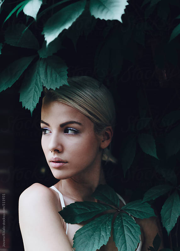 Young blonde woman portrait by Jovana Rikalo for Stocksy United