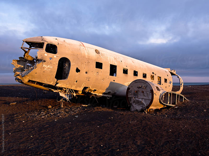 Abandoned DC Plane. Sólheimasandur. Iceland by Travelpix for Stocksy United