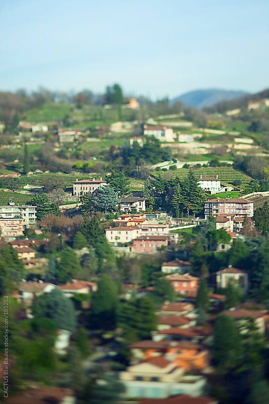 View of Brescia country (Lombardy, Italy) with houses and vegetation by CACTUS Blai Baules for Stocksy United