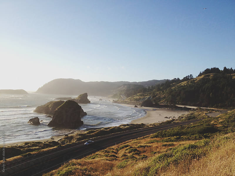 Gold Beach Coast Highway by Kevin Russ for Stocksy United