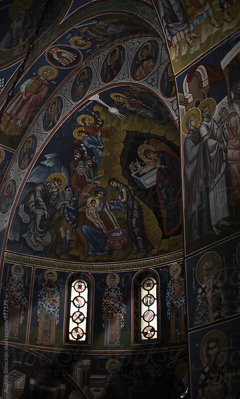 Detail of interior of church of Saint  Archangel Gabriel. by Marko Milanovic for Stocksy United