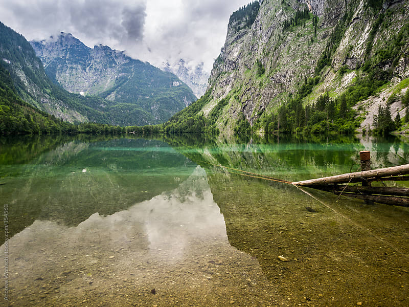 Lake View in the Bavarian Alps by Andreas Wonisch for Stocksy United