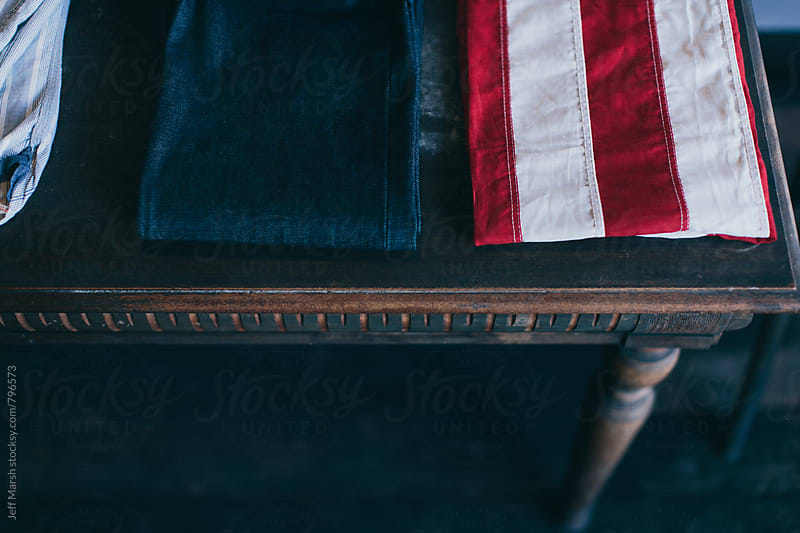 American Flag and jeans by Jeff Marsh for Stocksy United