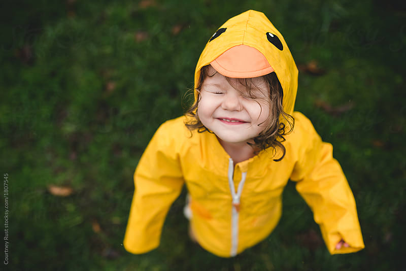 A squinty happy rain face