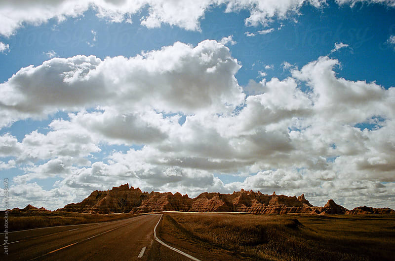 Desert road by Jeff Marsh for Stocksy United