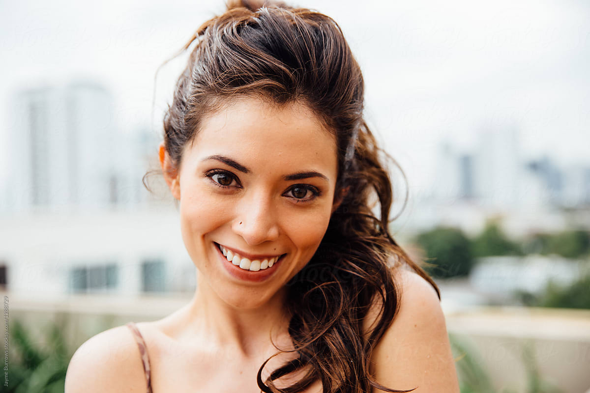 Portrait Of A Young Pretty Latina Woman | Stocksy United