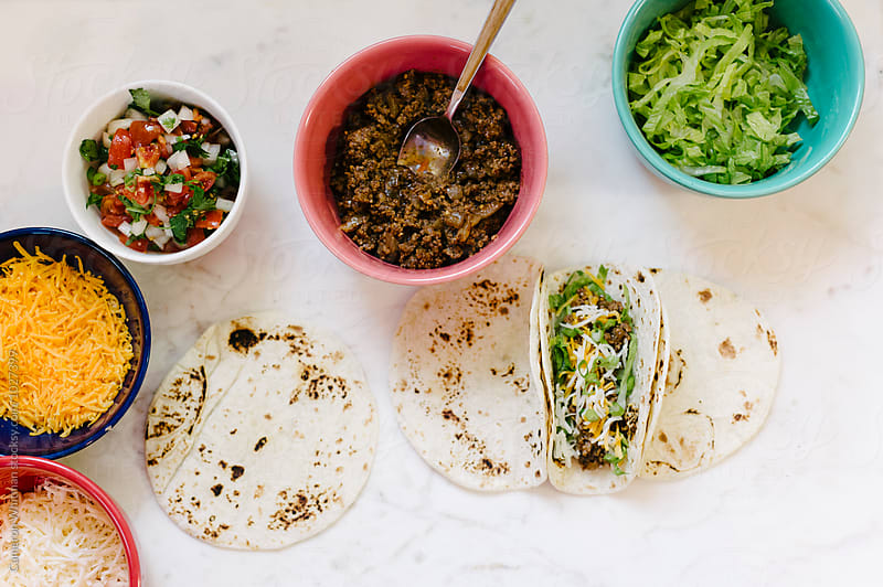 Preparing Classic American Tacos by Cameron Whitman for Stocksy United