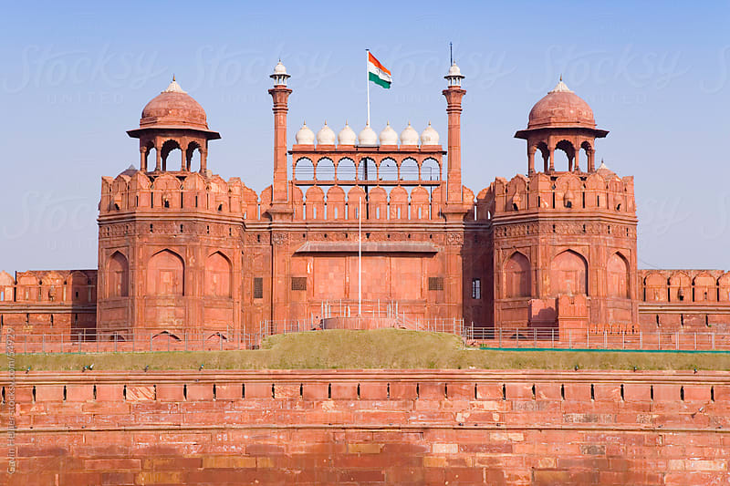 Red Fort (Lal Qila), built by Shah Jahan between 1638 and 1648, UNESCO World Heritage Site, Delhi, I by Gavin Hellier for Stocksy United
