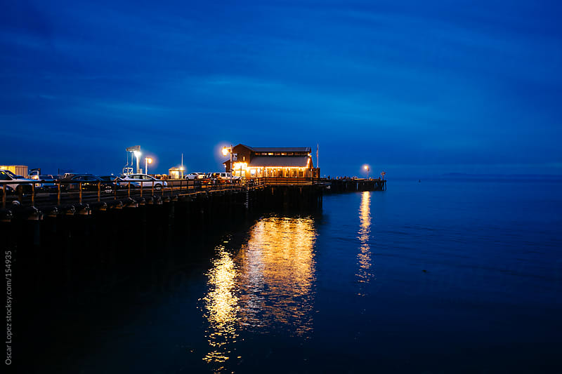 Santa Barbara pier at Dusk by Oscar Lopez for Stocksy United