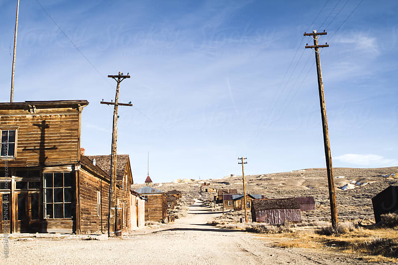 Dirty Road through Creepy Ghost Town from the Gold Rush by MEGHAN PINSONNEAULT for Stocksy United