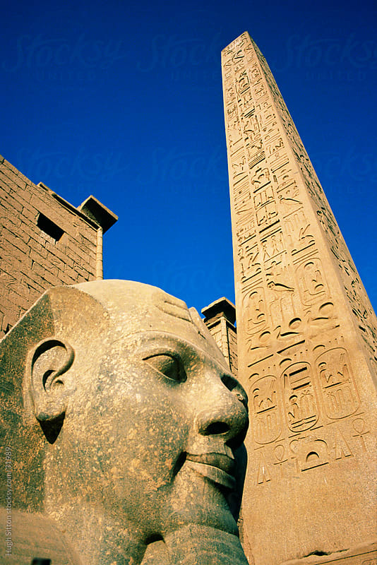 Obelisk at the Luxor Temple.  by Hugh Sitton for Stocksy United