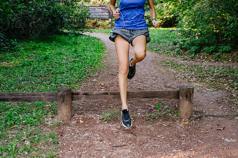 Anonymous Woman Jogging in the Park by Mosuno for Stocksy United