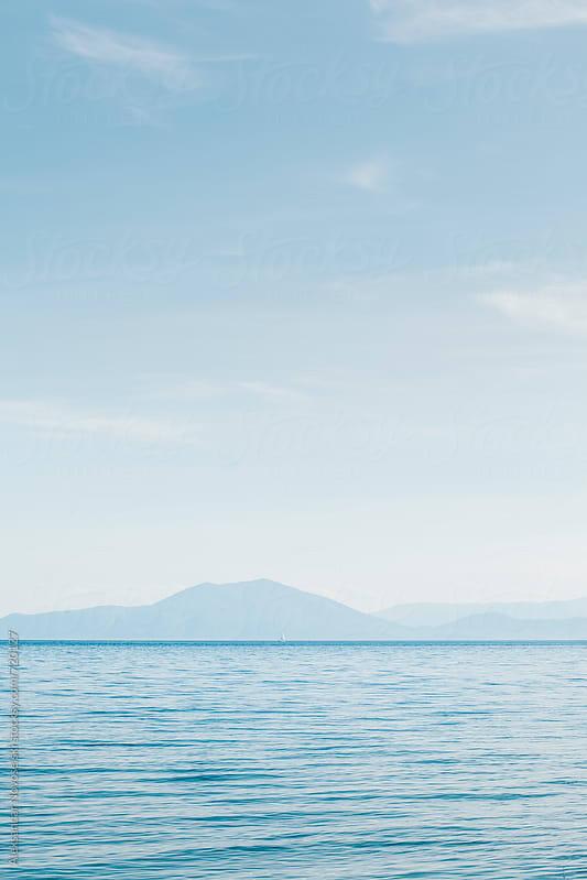 Minimalist seascapes in Greece by Aleksandar Novoselski for Stocksy United