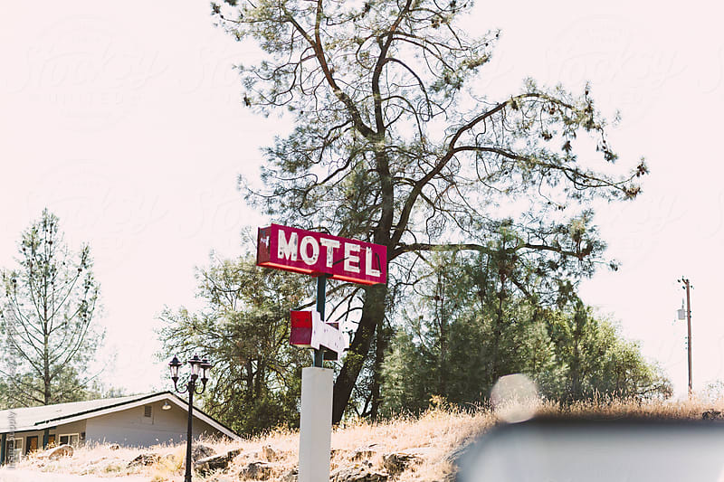 red motel sign by Image Supply Co for Stocksy United
