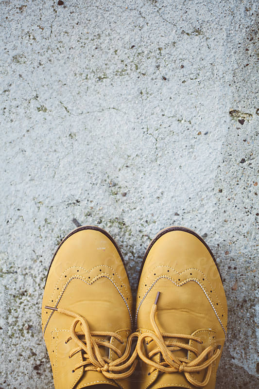 Yellow shoes by Jelena Jojic Tomic for Stocksy United