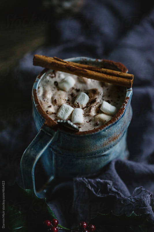 Delicious creamy mug of hot chocolate. by Darren Muir for Stocksy United