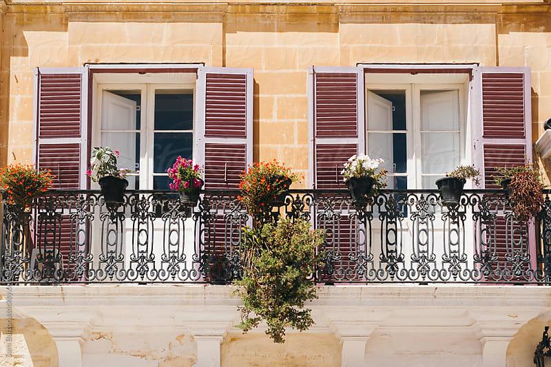 Traditional Maltese building  by Sam Burton for Stocksy United