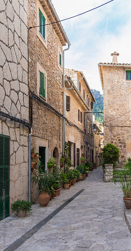 Narrow street in Valldemosa by Marilar Irastorza for Stocksy United