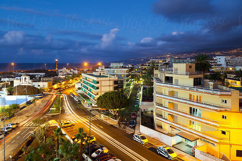 Puerto de la Cruz by Night by Victor Torres for Stocksy United