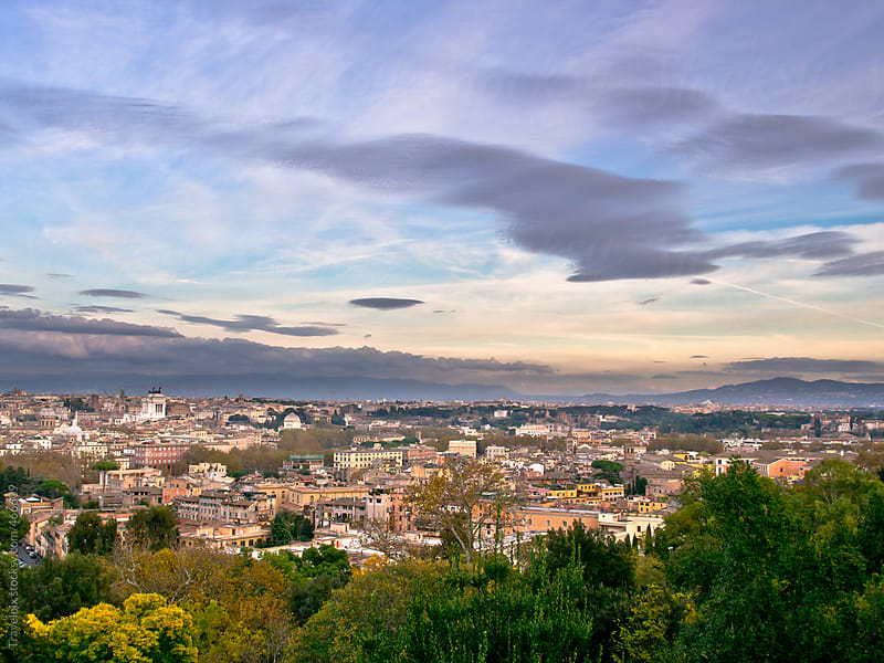 A view of Rome from Gianicolo. Rome. Italy by Travelpix for Stocksy United