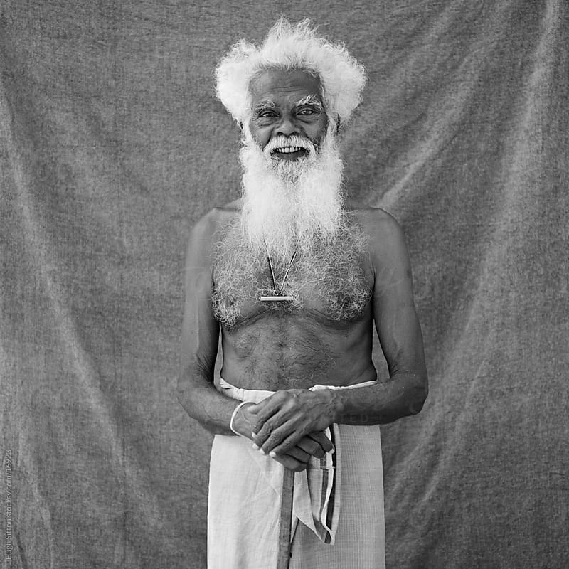 Portrait of Sri Lankan gentleman. by Hugh Sitton for Stocksy United