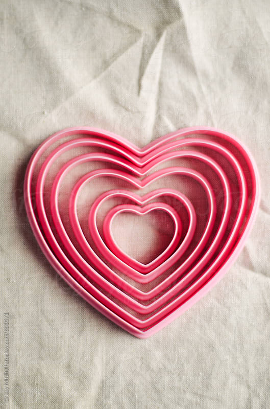 heart cookie cutters by Crissy Mitchell for Stocksy United