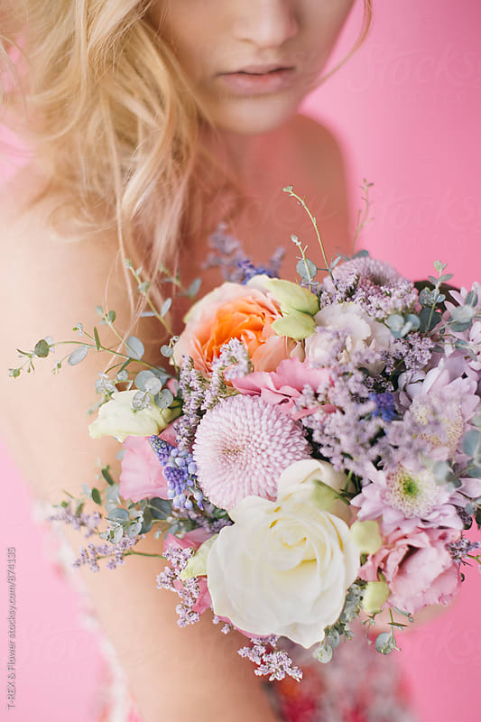 Close-up of beautiful bouquet by T-REX & Flower for Stocksy United