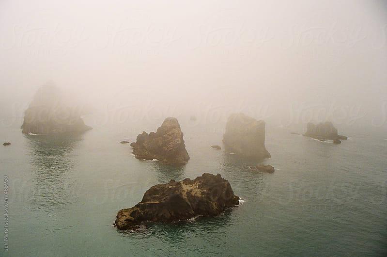 Foggy Rocks by Jeff Marsh for Stocksy United