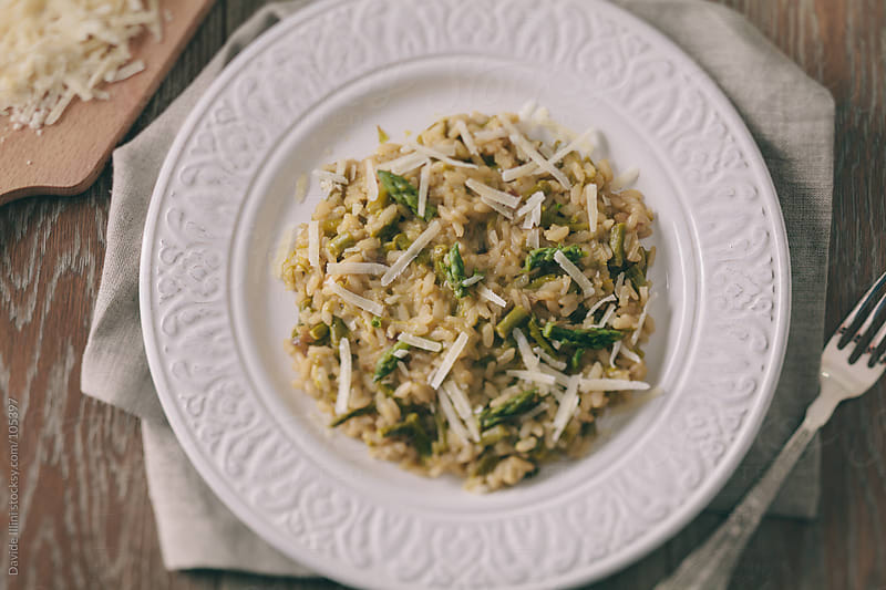 Asparagus Risotto by Davide Illini for Stocksy United