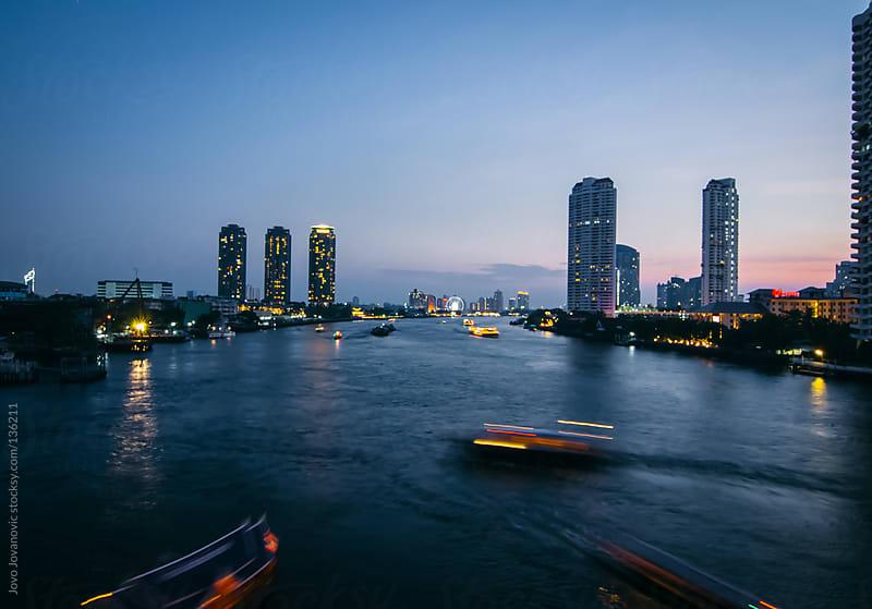 Urban view of Chao Phraya river, Bangkok.  by Jovo Jovanovic for Stocksy United