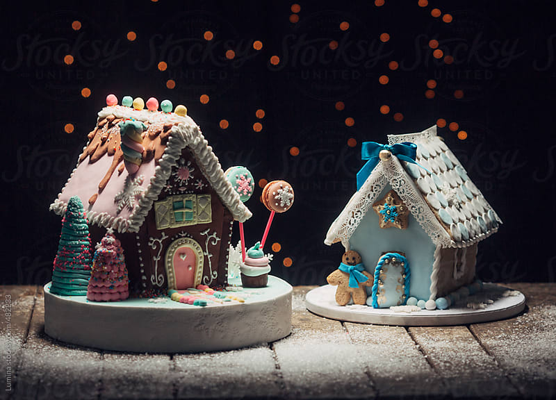 Gingerbread Houses by Lumina for Stocksy United