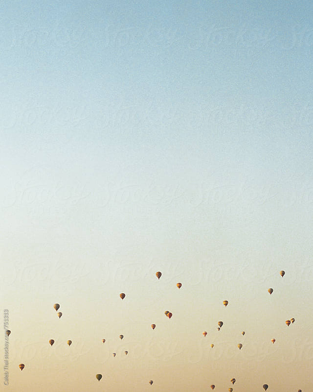 Sky of Hot Air Balloons by Caleb Thal for Stocksy United