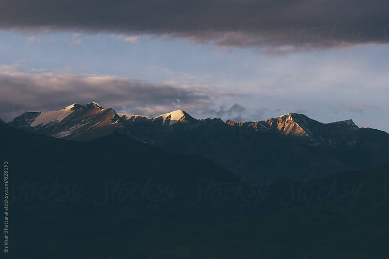Sunset in the mountains. by Shikhar Bhattarai for Stocksy United