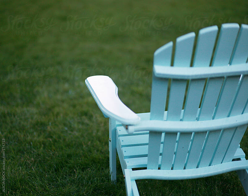 Blue Adirondack Chair by ALICIA BOCK for Stocksy United