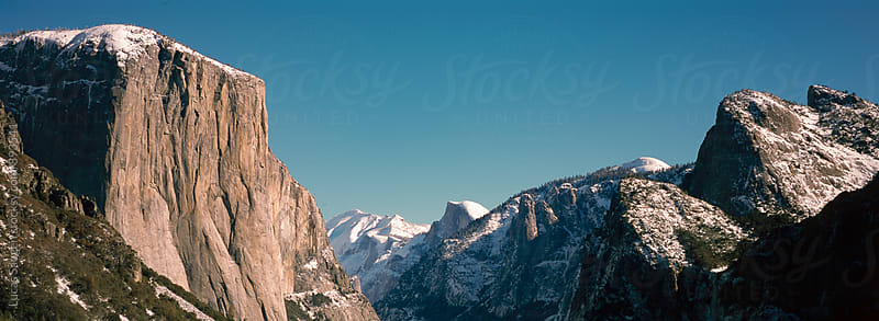 A panorama of the Yosemite Valley by Lucas Saugen for Stocksy United