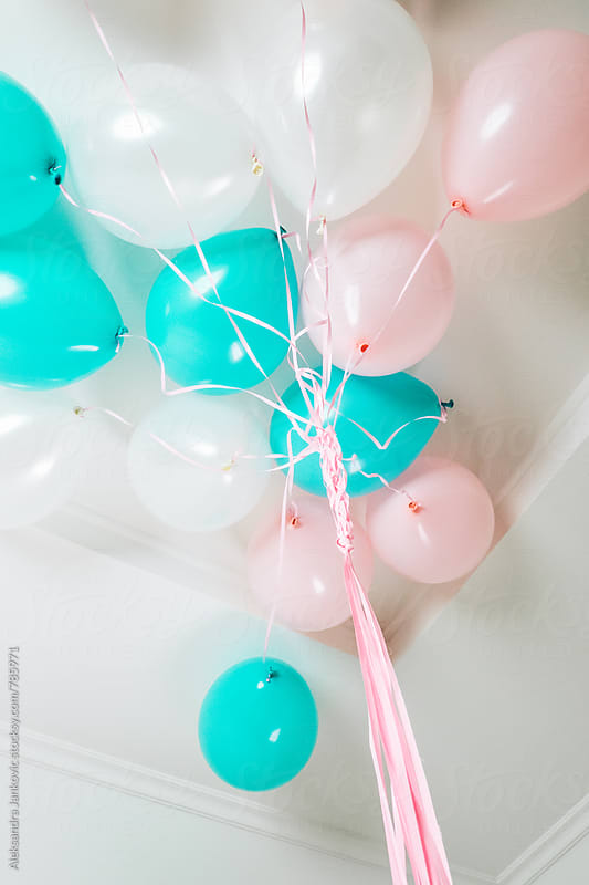 Balloons on the Ceiling by Aleksandra Jankovic for Stocksy United