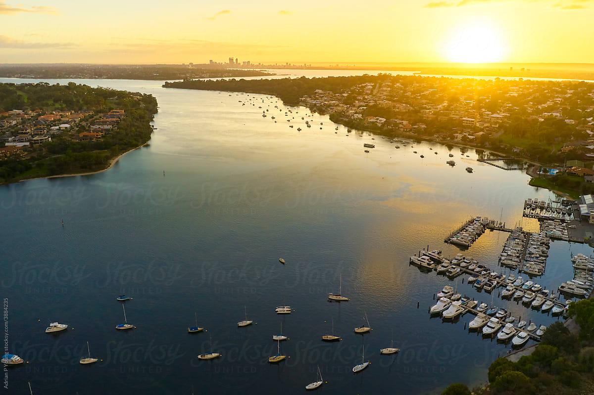 Swan River sunrise in Perth