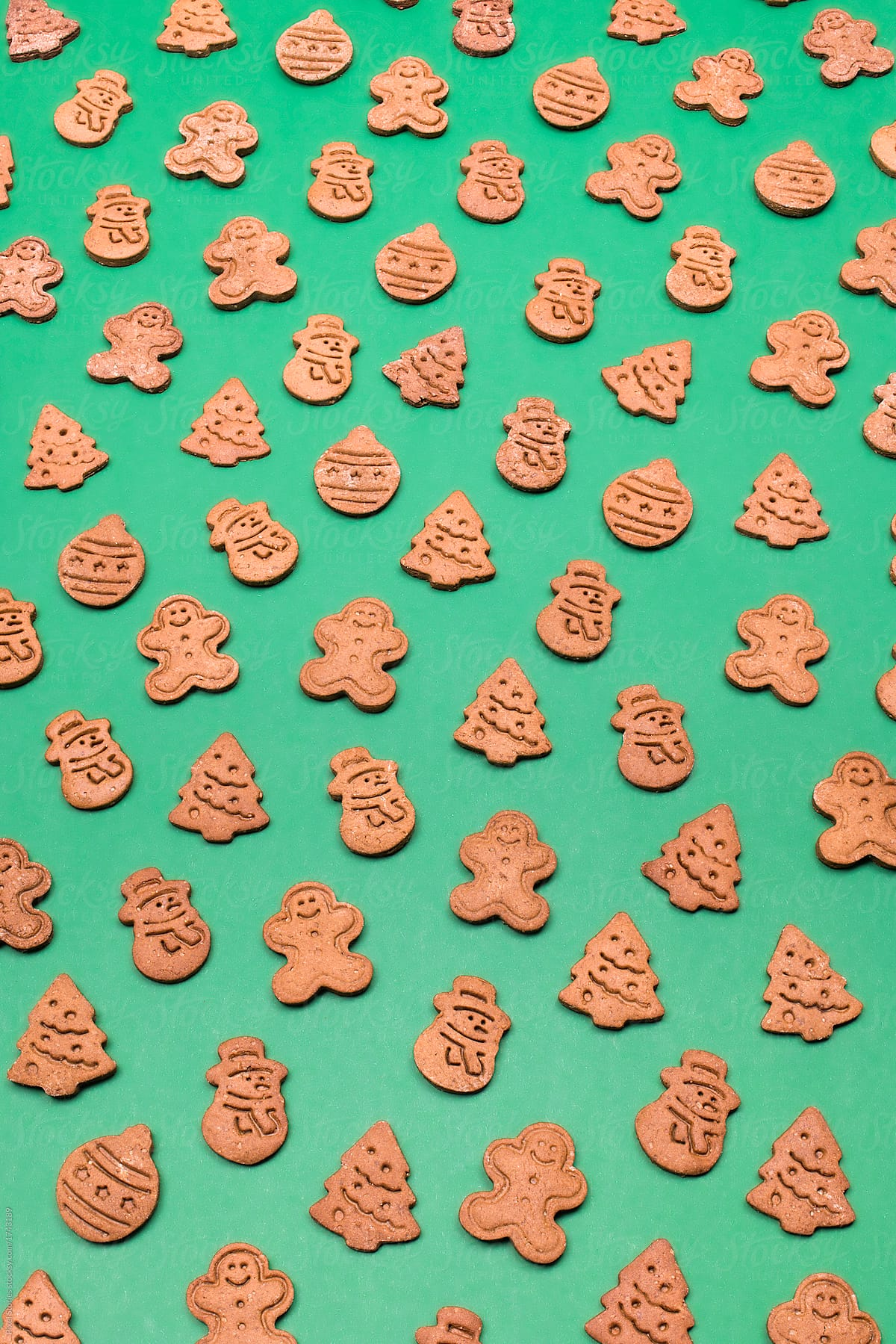 Stock Photo Christmas Cookies Background