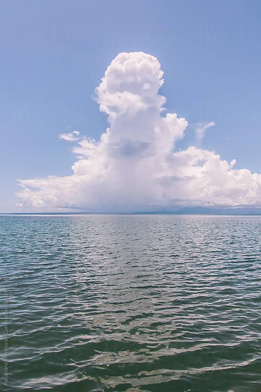 Sea and cloud by Alejandro Moreno de Carlos for Stocksy United